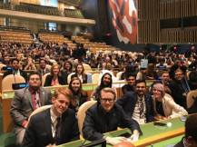 RCCMUN Team at the UN General Assembly Hall in April 2017, in New York, NY.