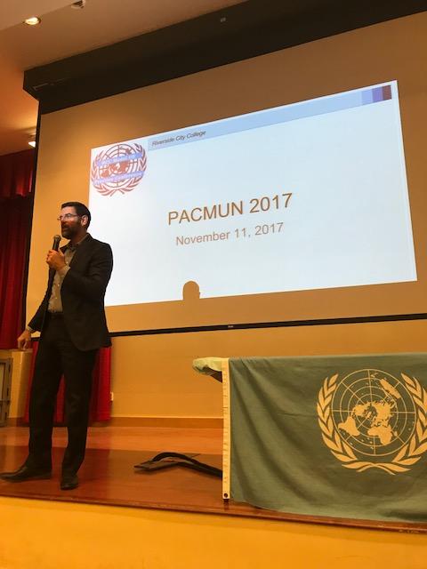 NCC President Reece at PACMUN
